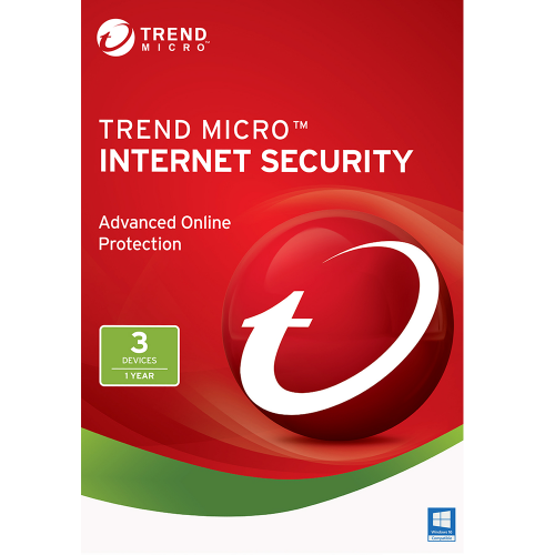 Trend Micro Internet Security 2018 1 Year 3 Pc